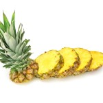 cut ananas isolated on a white background