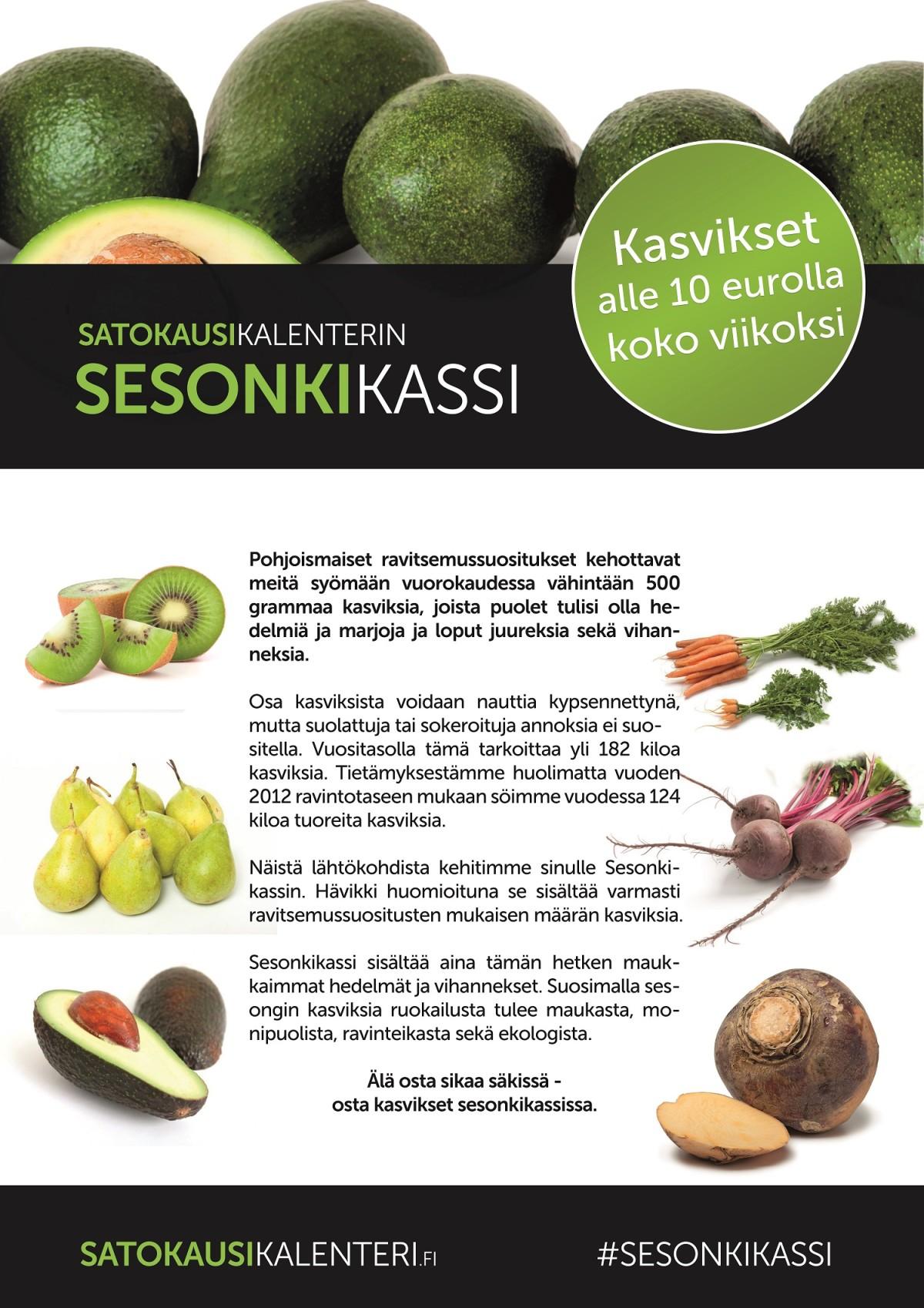 K-Supermarket Postitalon Sesonkikassin sisältö 29.5.2015