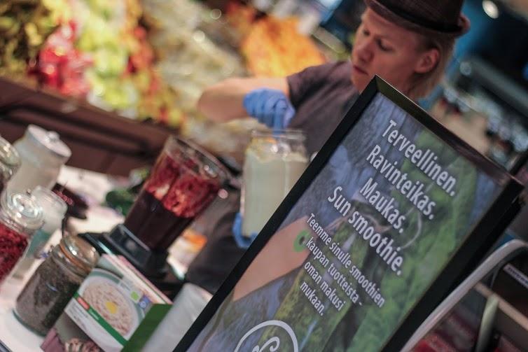 Suomen paras smoothie suoraan ruokakaupan hedelmä- ja vihannesosastolta