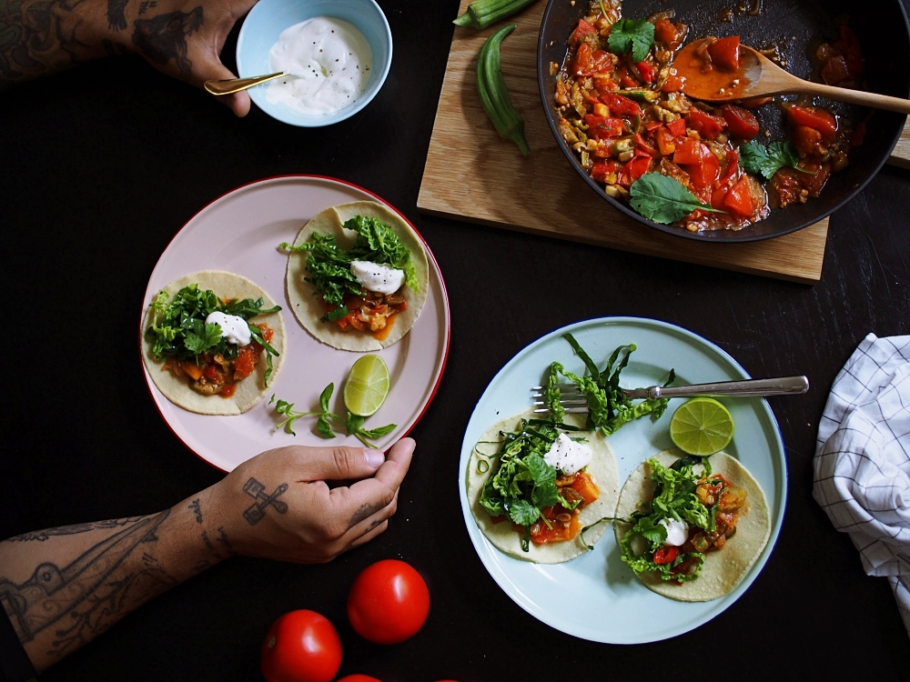 Kesän maukkaimmat tacot syntyvät okrasta