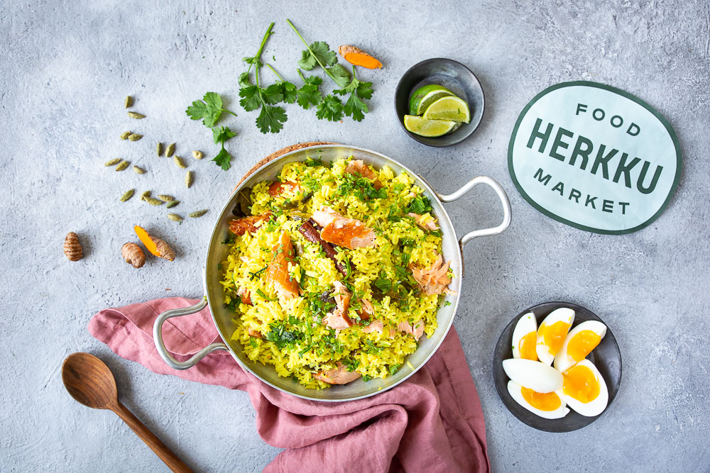 Kedgeree on helppo riisiruoka