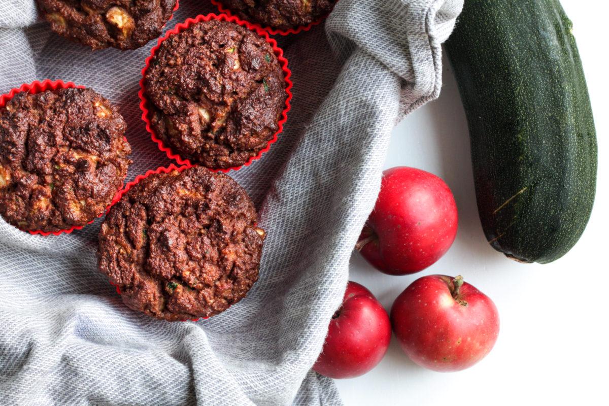 Gluteenittomat omena-kesäkurpitsa-muffinssit