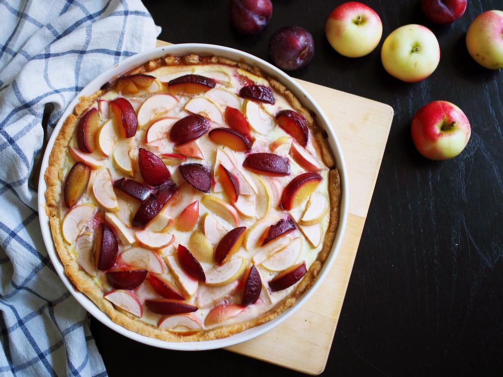 Syksyn ihanin – Omena-luumupiirakka